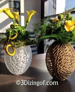 cellular cocoon vases by Dizingof