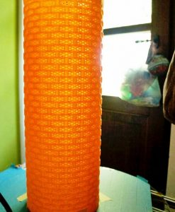 3d printed CylinderHex Lampshade by Dizingof on a Delta 3D printer by Francesco Santo