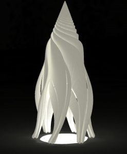 Rocket Fractal Lampshade for Delta 3D printer - by Dizingof-0005