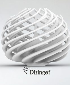 Twistorus- Fractals Lamp Shade by Dizingof.5777