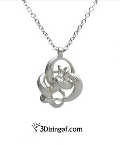 Entanglement Pendant - Math Jewelry by Dizingof-.8462