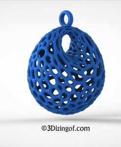 Cellular Dupin Cyclide Pendnat - Math Jewelry by Dizingof-.8816