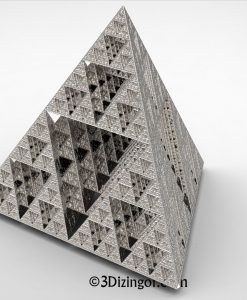 Equilateral pyramid- Math Art by Dizingof-.11411