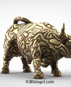 2 colors wall street bull by dizingof.12900
